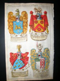 Guillim Heraldry 1679 H/Col. Francis North, Thomas Chicheley, Thomas Dolman